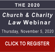 Click to Register for the Church and Charity Law Webinar