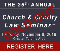 Carter 25th Church & Charity Law Seminar - Sold Out